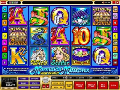 free video slot machines for mermaid